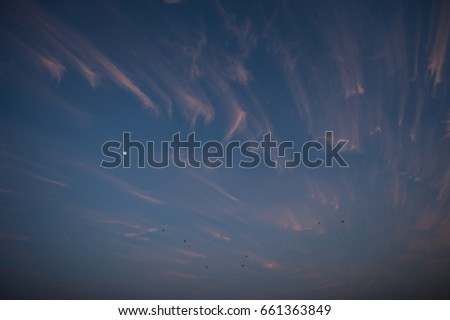 Evening sky and glow #661363849