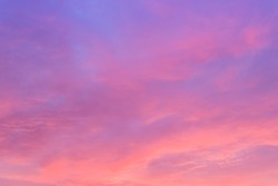 Evening sky,beautiful sunset clouds background,dramatic cloud and idyllic sky twilight in the evening,bright sunrise in summer season.