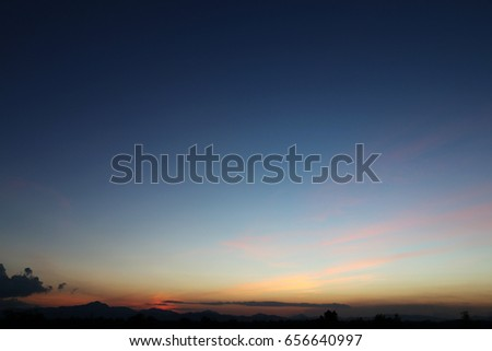 Evening sky Of tropical countries Asia In the summer holiday #656640997