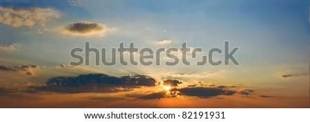 evening sky panorama