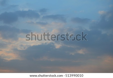 Evening sky with clouds. The nature of the sky before sunset. #513990010