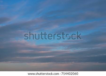 evening sky with cumulus clouds #754402060