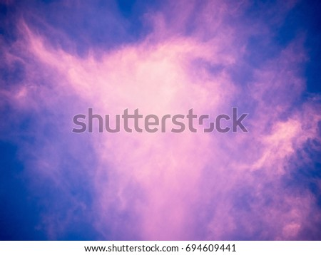 evening sky with pink clouds at ...