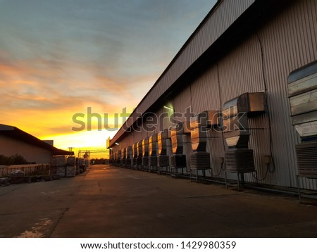 Evening sky with the factory #1429980359