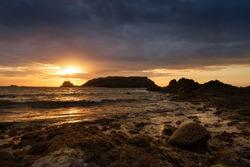 Evening sun in Saint Malo, France