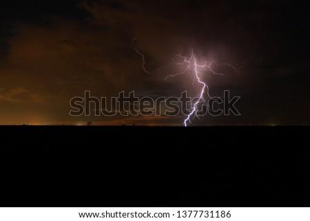 Evening  Thunder Storm #1377731186