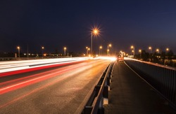 Evening traffic with long exposure.