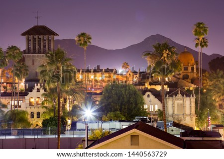 Photo of  Evening view of downtown Riverside, California, skyline.