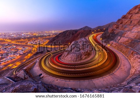 Evening view of muscat city.