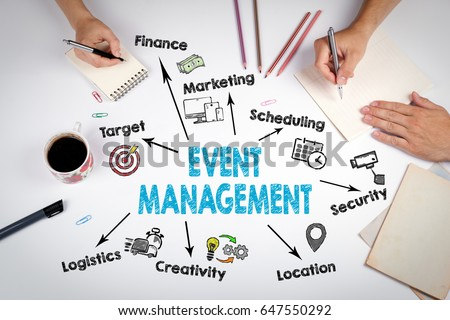 Event management Concept. The meeting at the white office table #647550292