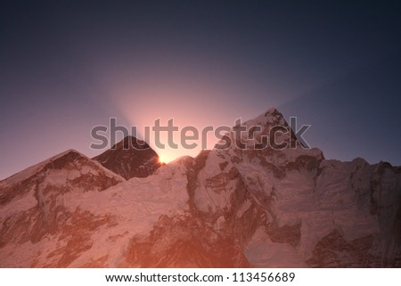 Everest at sunrise