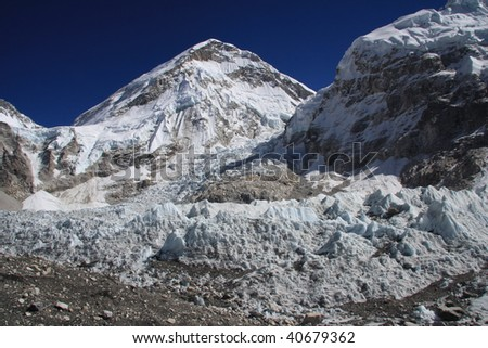 Everest Base camp and the Khumbu icefall