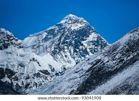 Everest: highest mountain in the world (8848 m)