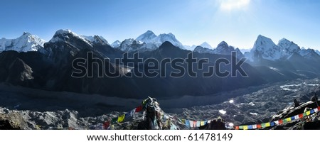 Everest Mountain Panorama
