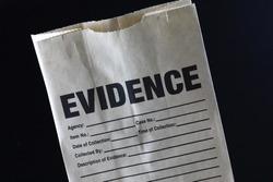 Evidence bag used by law enforcement for criminal investigation