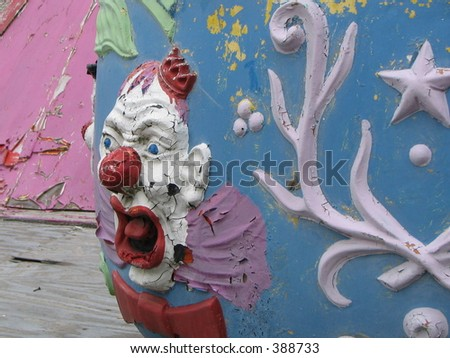 Evil Clown carnival ride