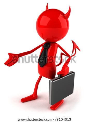 Evil contract - stock photo