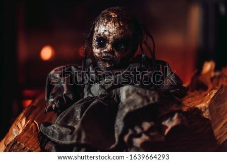 Evil Doll Horror Halloween Demonic Stock foto ©