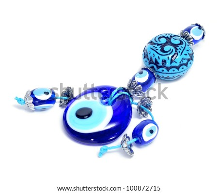 evil eye amuleton a white background