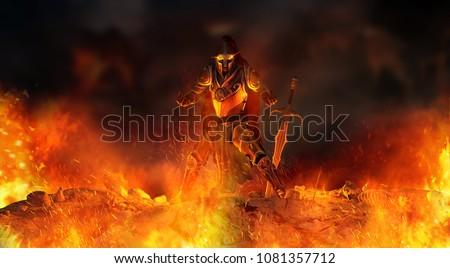 Evil fantasy character casting magic