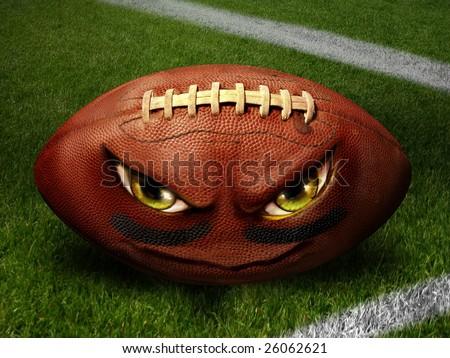 Evil Football Illustration