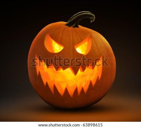 evil laughing jack-o-lantern
