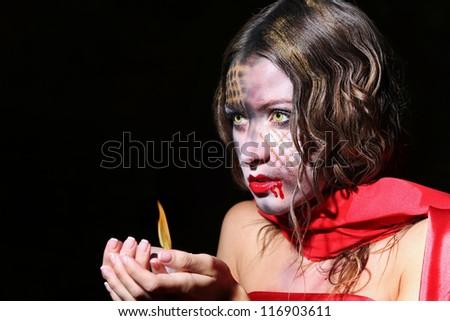 evil vampire woman beautiful halloween