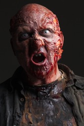 EVIL Zombie Undead Monster, Intense Horror Portrait