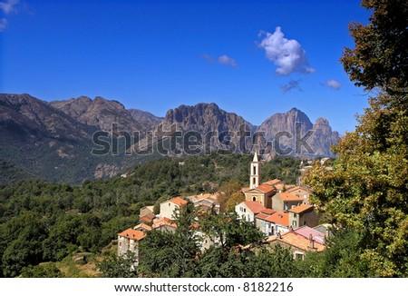 evisa corsica village