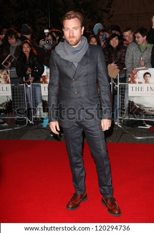 Ewan McGregor arriving for the 'The Impossible' Premiere at the IMAX, Waterloo, London. 19/11/2012 Picture by: Alexandra Glen