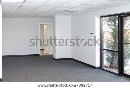 Example of standard office space in an industrial park setting.