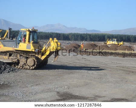 Excavation and earthworks for road construction project