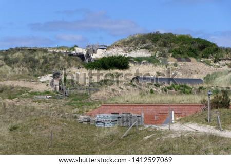 Excavation bunker Vlieland, part of the atlantic wall during second world war