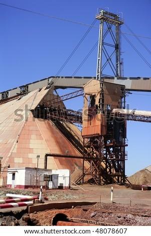 Excavation metal outdoor mine Riotinto in Spain