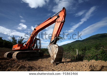 Excavation work on the construction of rural roads