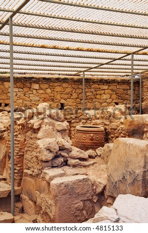 excavations in Knossos - stock photo