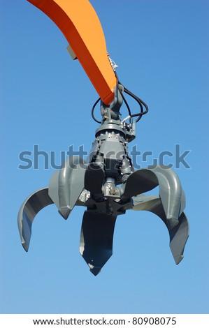 Excavator arm - stock photo