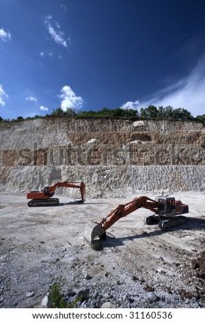 excavator for the extraction of sand, gravels..