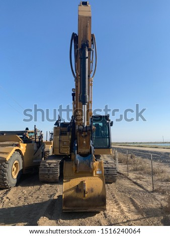 Excavator Heavy construction equipment for excavation and dirt moving