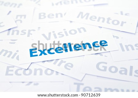 Excellence concept word