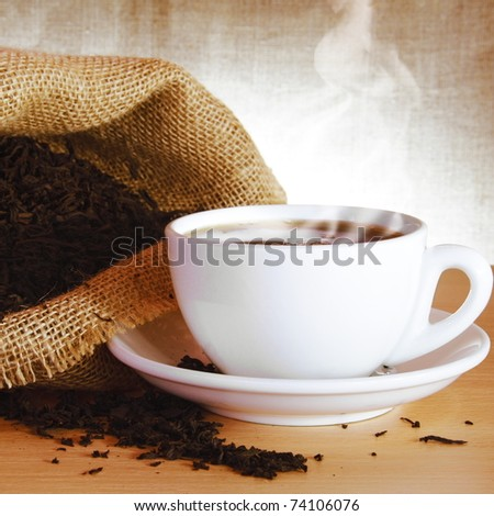 Excellent Black Tea and Bag with Steam