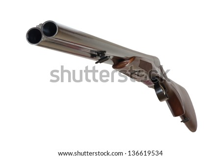 Excellent Double Shotgun on a white background