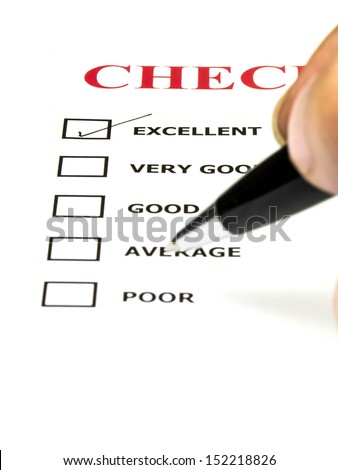 Excellent experience checkbox in checklist survey