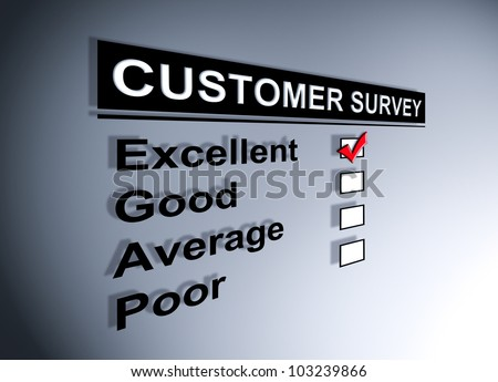 Excellent experience checkbox ticked in customer service survey form