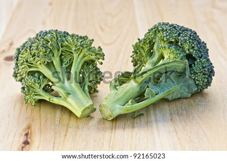 Excellent image of broccoli with good lighting and color