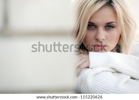 excellent professional fashion hairstyle. women. portait. make up