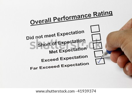 Excellent service customer satisfaction survey form - stock photo