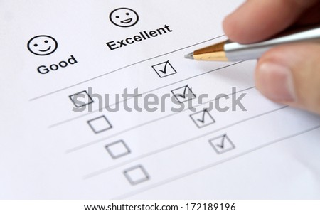 Excellent Service Survey Completion Form for different uses