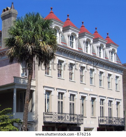 Exceptional Second Empire style structure with Mansard roof, Charleston, SC