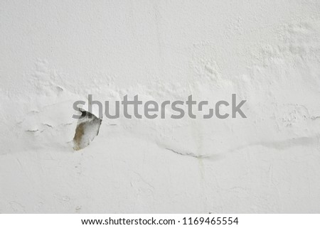 Excessive moisture can cause mold and peeling paint wall, such as rainwater leaks or water leaks. #1169465554